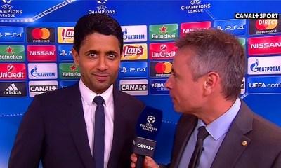 """Nasser Al-Khelaïfi """"Je suis serein, on a gagné 4-0, je suis très heureux"""""""