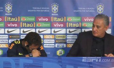 Tite défend Neymar en conférence presse, l'attaquant s'en va avec les larmes aux yeux