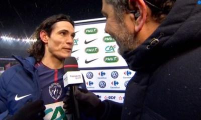 """PSG/OM - Cavani """"C'est toujours spécial de gagner un Classico"""""""