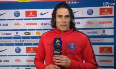 """PSG/OM: Cavani """"On a dominé le match et ça c'est la préparation"""""""