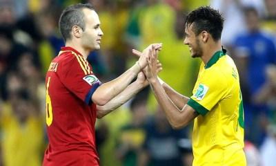 "Iniesta ""Voir Neymar signer au Real Madrid ne me surprendrait pas"""