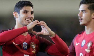 Gonçalo Guedes a inscrit un joli doublé lors de la victoire du Portugal contre l'Algérie