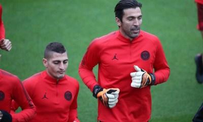 """Verratti : Buffon """"Il nous a apporté son expérience et sa façon de se préparer pour les matchs"""""""