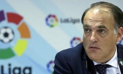 """Tebas accuse le PSG et City de faire """"énormément de mal au football"""""""