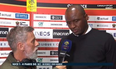 """Nice/PSG - Vieira """"Malheureusement, l'arbitre a gâché la fin du match."""""""