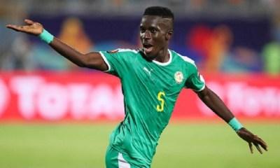 Gueye a joué 30 minutes durant la victoire du Sénégal face à l'Eswatini