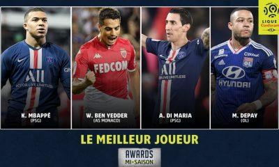 Mbappé et Di Maria nominés pour le titre de meilleur joueur de la première moitié de saison 2019-2020