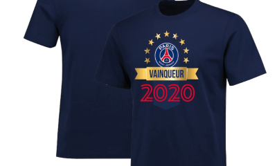 """Le PSG met en vente des t-shirts """"Vainqueur de la Coupe de la Ligue 2020"""""""