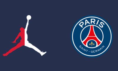 Le maillot domicile du PSG 2021-2022 avec le logo Air Jordan, selon Footy Headlines