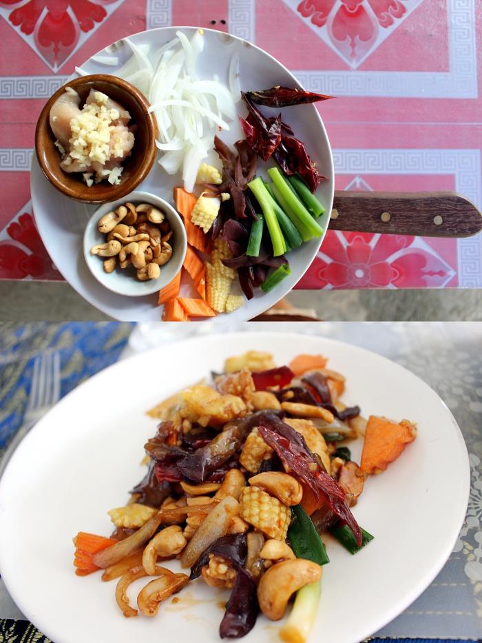siam rice cooking school cashew chicken