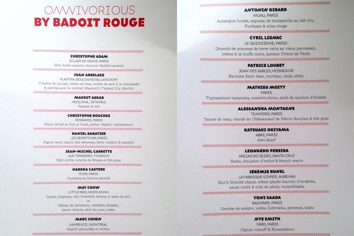 omnivorious party menu