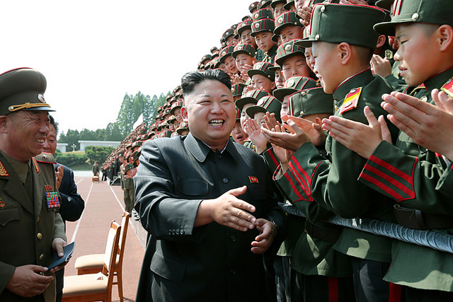 Kim Jong Un on a visit to Mangyongdae Revolutionary School. Photo Credit: Prachatai, Flickr CC