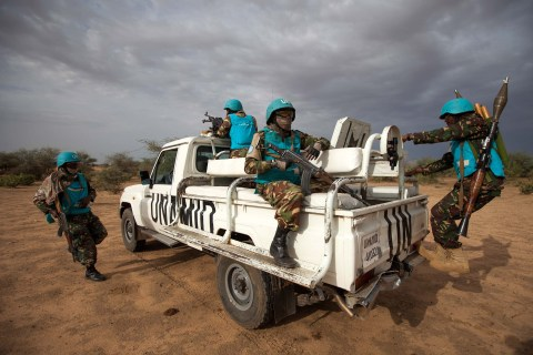 UNAMID's Protection of Civilians. Photo Credit: UNAMID, Flickr Cc. License available here.