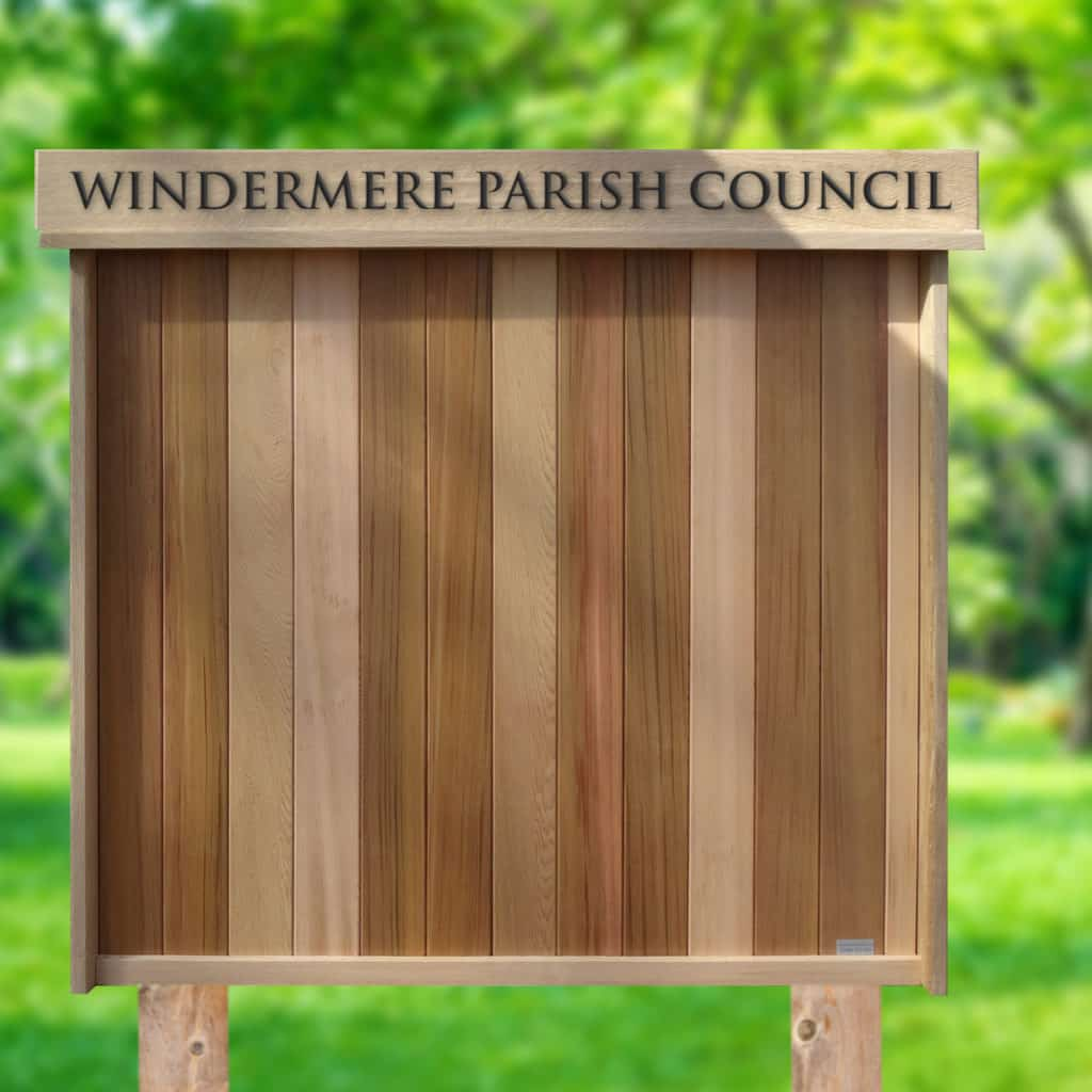 Open Wooden Noticeboard