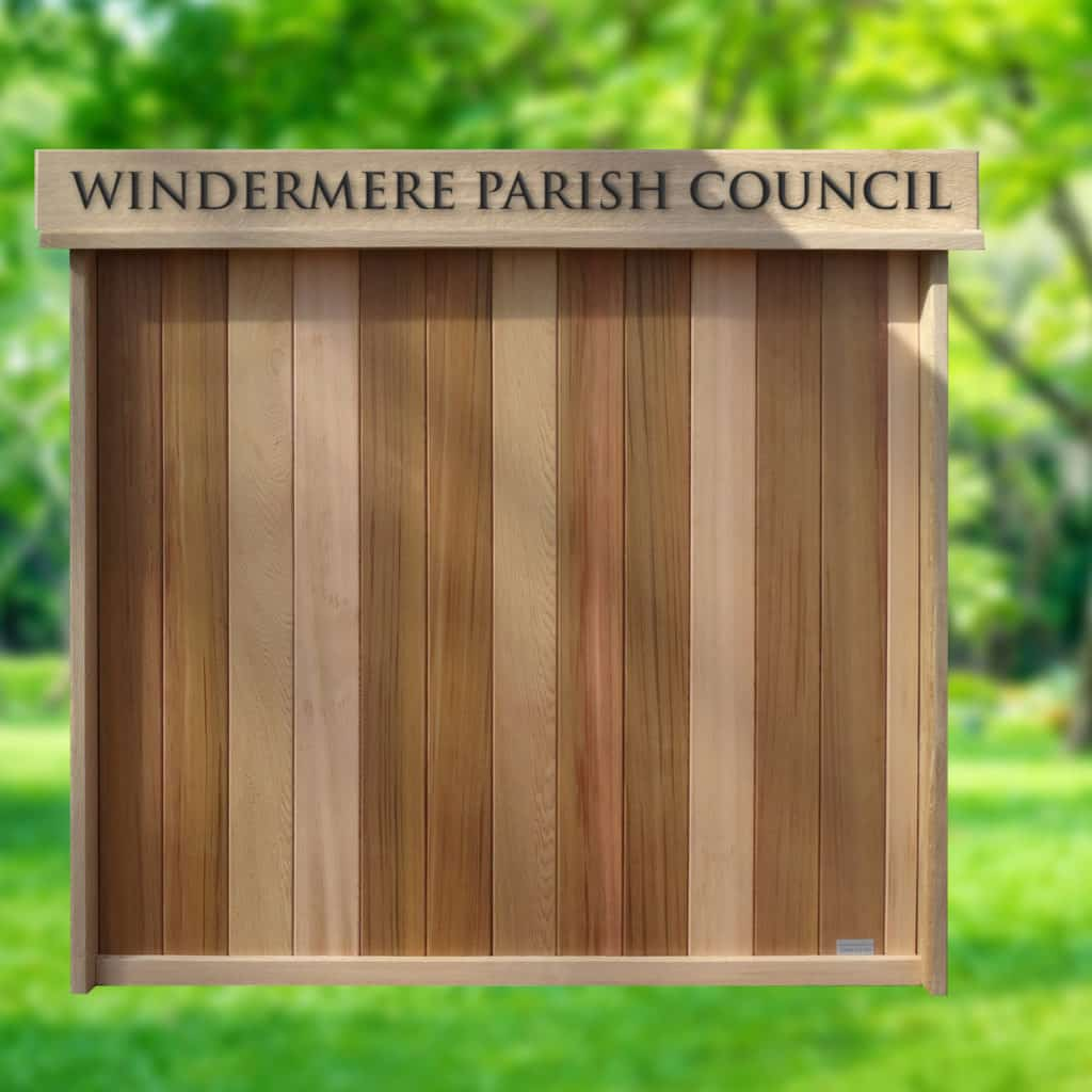 Wood Open Door Wall Noticeboard