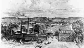 Image of Brintons factory, Kidderminster, circa 1870