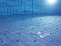 tiled floor pool