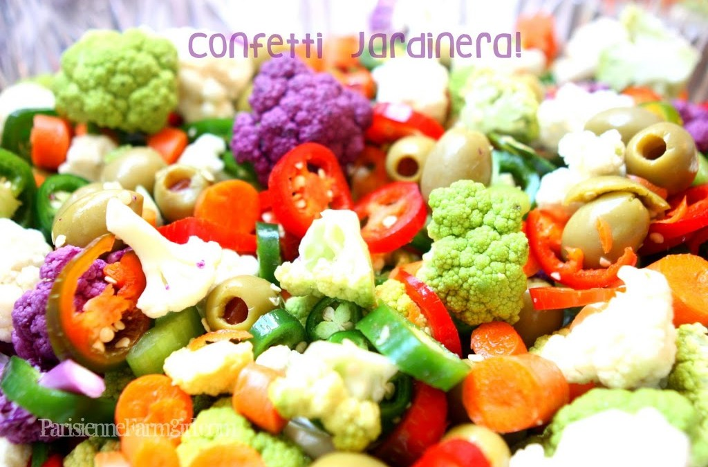 Today in the Kitchen -Confetti Jardinera!  & F.F. Update!