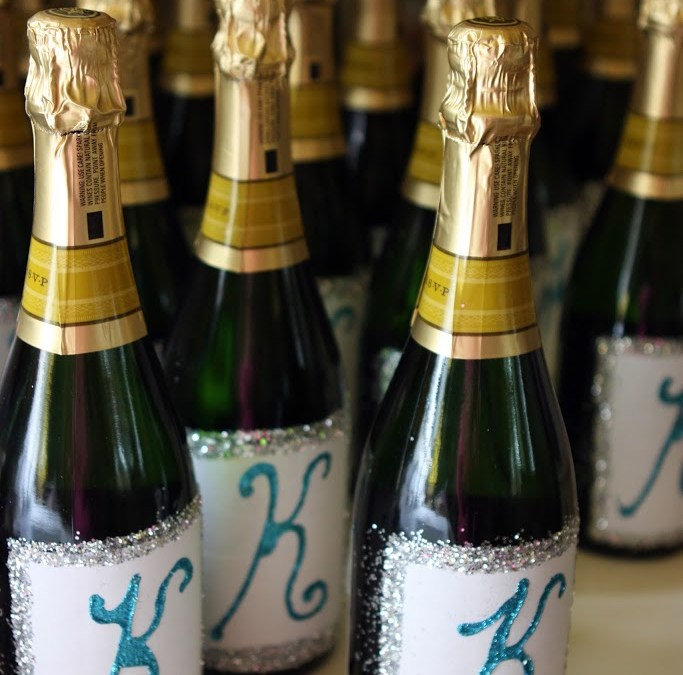 D.I.Y. Wedding Project… Custom Champagne Bottles