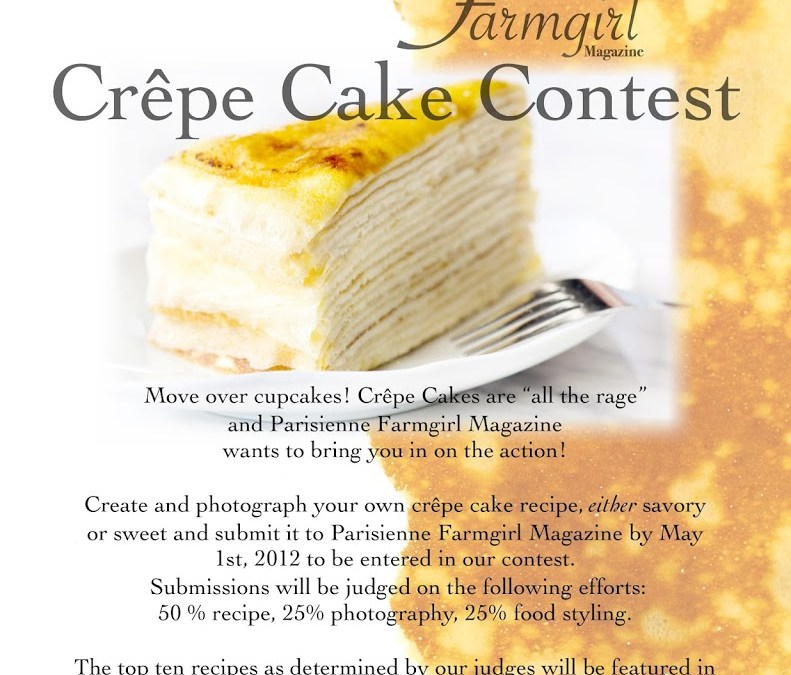Love to Cook?  Win $100.00!!!  PFM Crêpe Cake Contest!