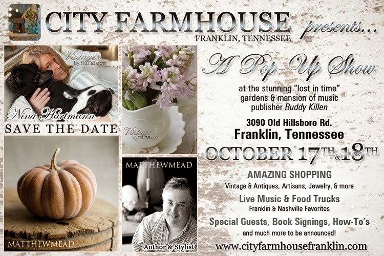 City Farmhouse Pop-Up Sale!  BE THERE!