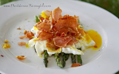 Today in the Kitchen – Fried Egg with Asparagus & Prosciutto