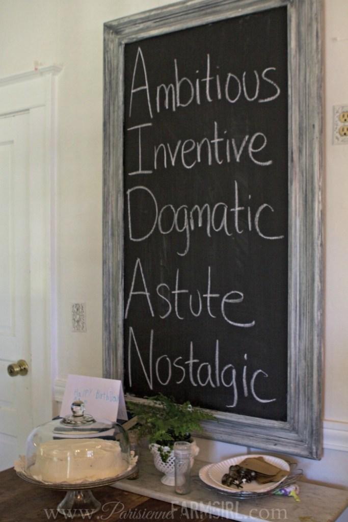Ambitious. Inventive. Dogmatic. Astute. Nostalgic.