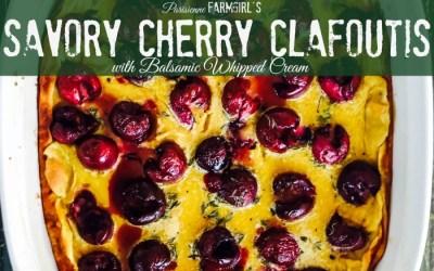 Savory Cherry Clafoutis