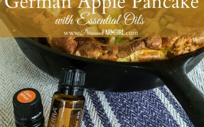 German Apple Pancake with Essential Oils