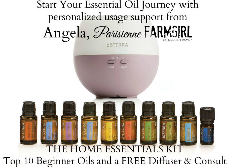 Start your essential Oil Journey with personalized usage support from Angela, Parisienne Farmgirl - The home essentials kit Top 10 Beginner Oils and a Free Diffuser & Consult