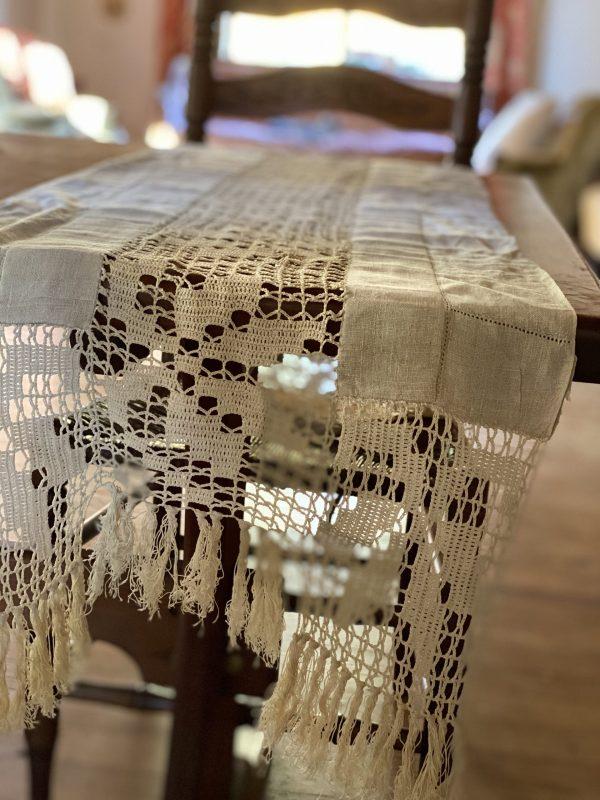 Ecru Linen Table Runner