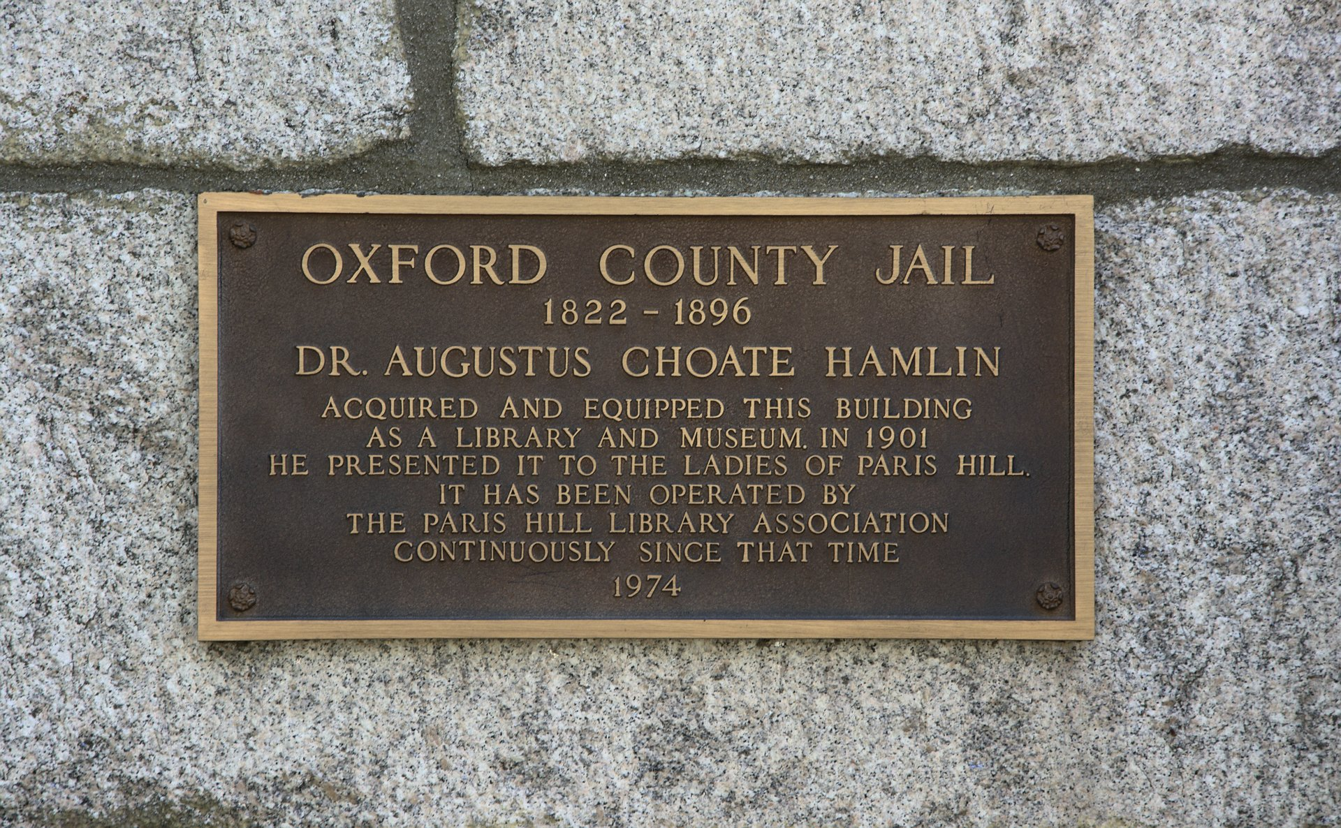Oxford County Jail, Paris Hill
