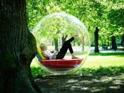 lady in bubble