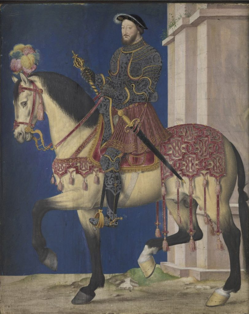 Equestrian portrait of Francis I by Jean Clouet