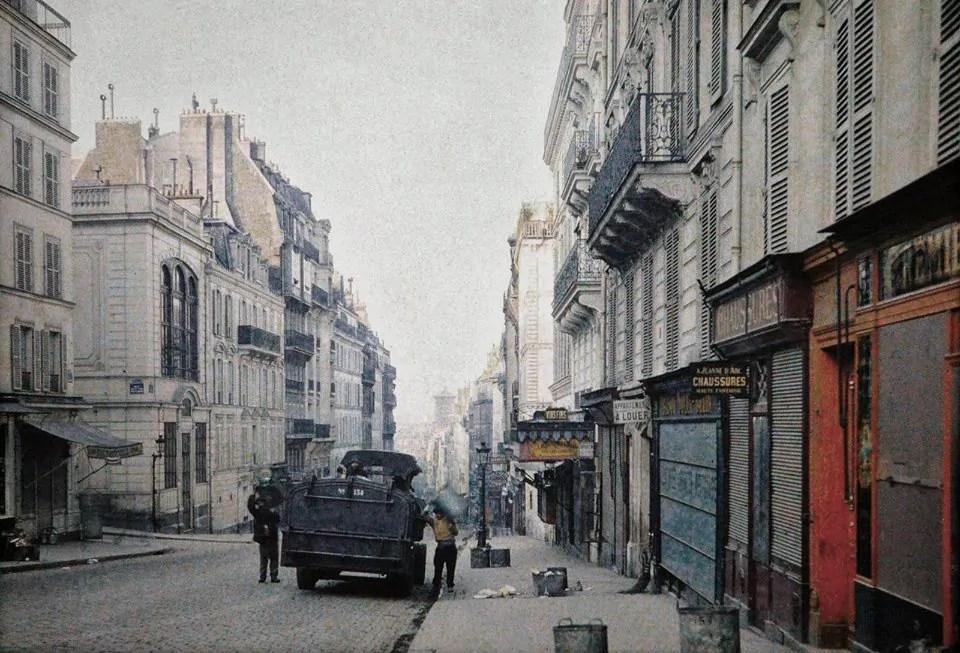 La rue des Martyrs en 1914