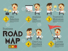 business-planning-roadmap-infographic-cartoon-character-vector-illustration-54302415