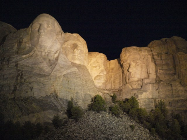 Mount Rushmore at Night