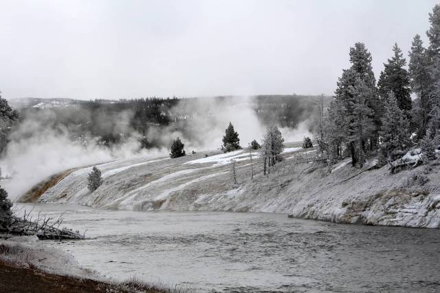 Yellowstone River Winter