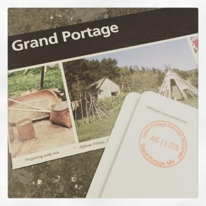 Grand Portage Passport Stamp