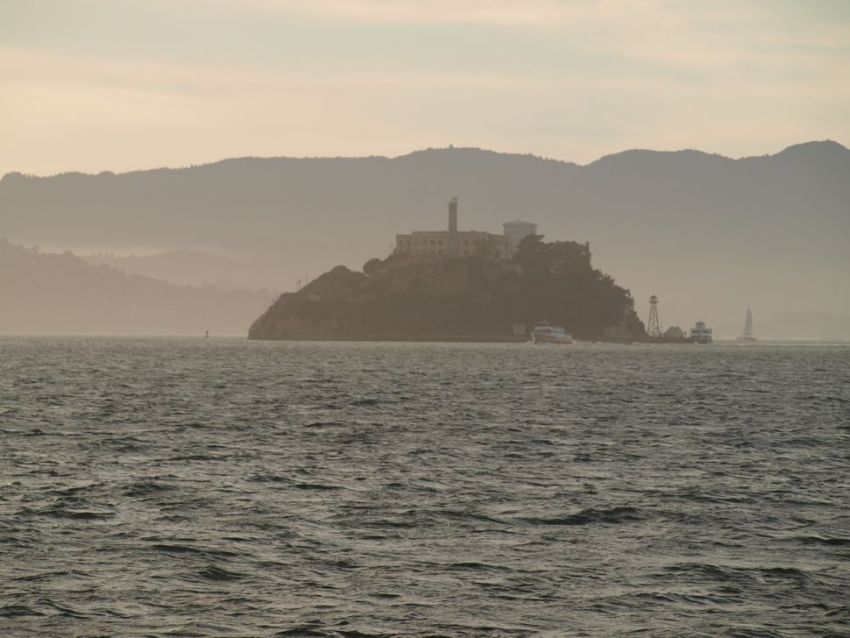 Alcatraz Island at Sunset