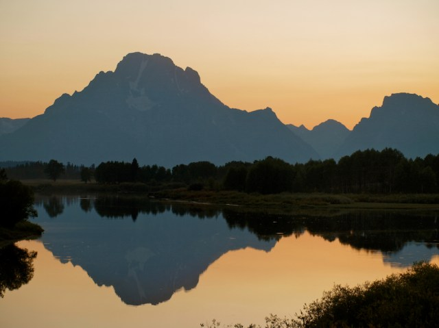 Sunset in and wildlife in Grand Teton National Park
