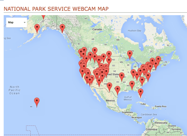 National Park Service Webcam Map - Montana State University