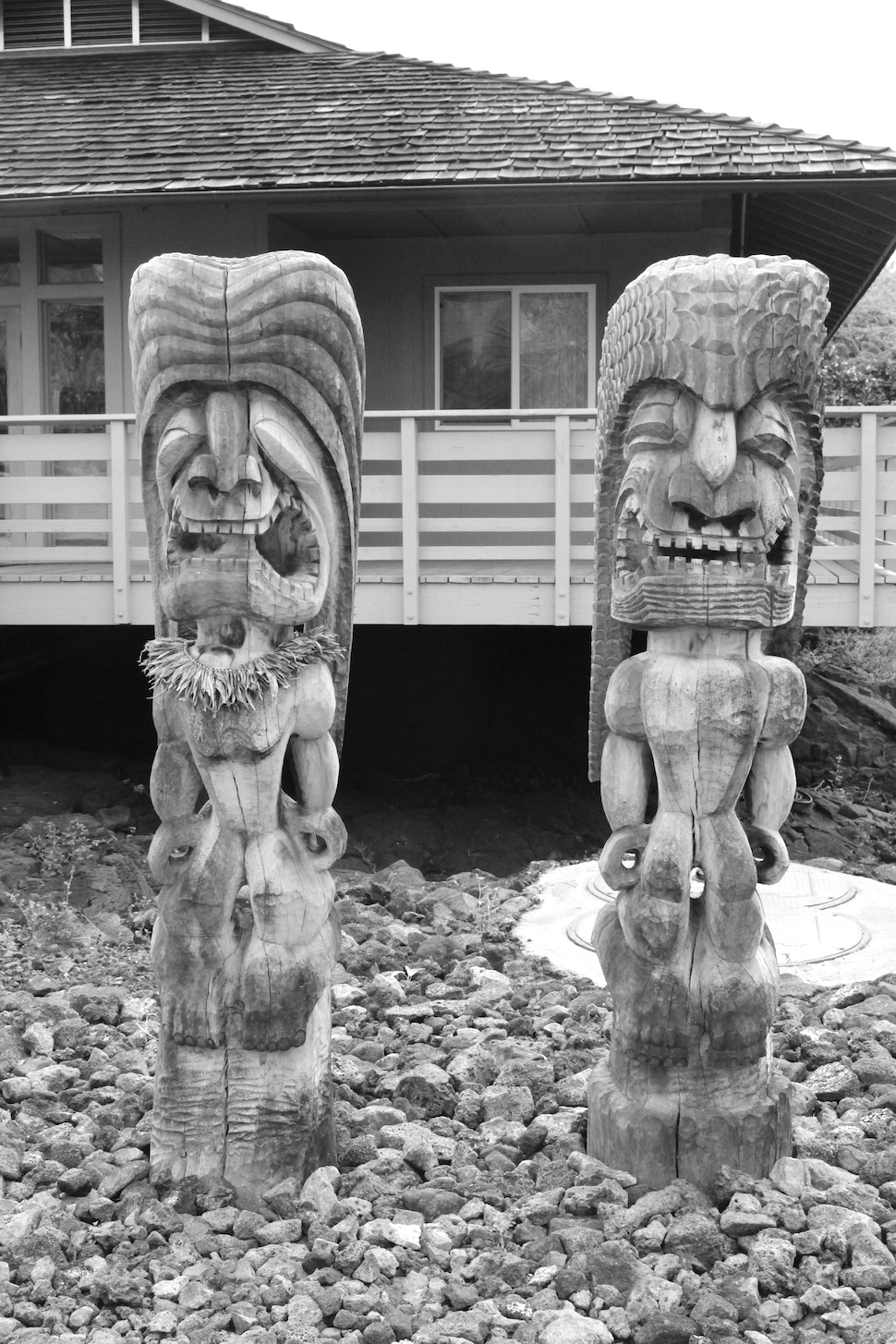 """""""Many ki'i (carved wooden images) surround the Hale o Keawe, housing the bones of the chiefs that infuse the area with their power or mana. If you reached this sacred place, you would be saved."""" - from NPS.gov"""