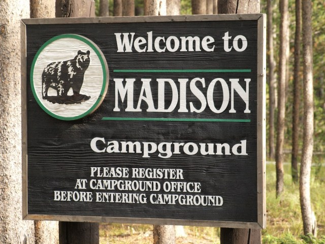 Entrance Sign for the Madison Campground