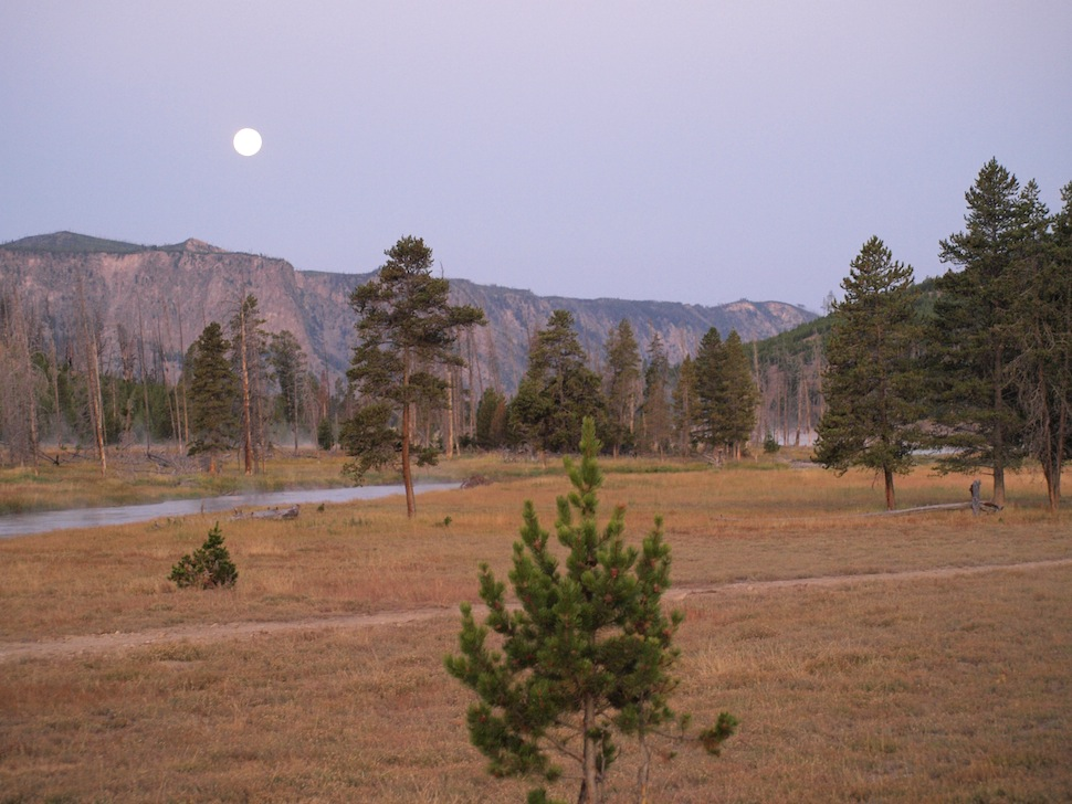 Dusk in the Madison Campground -Yellowstone National Park
