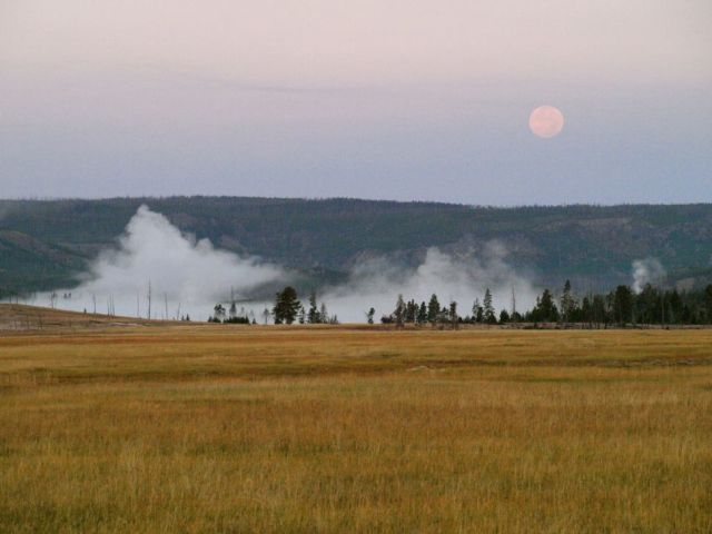 Dusk in the Yellowstone Geyser Basin