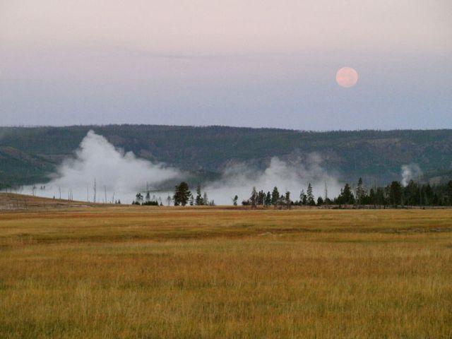 Dusk in the Yellowstone Geyser Basin