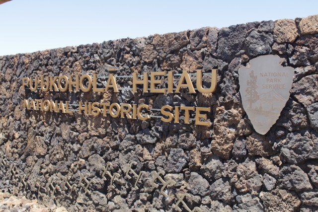 Pu'ukohola Heiau Entrance Sign