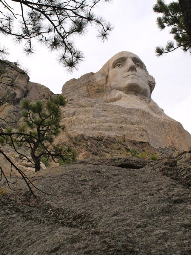 Mount Rushmore - one of the national parks honoring George Washington
