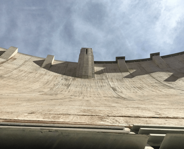View of the Hoover Dam from inside the dam